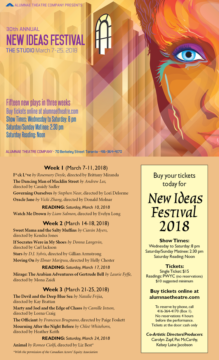 New Ideas Festival @ Alumnae Theatre — Kendra Jones