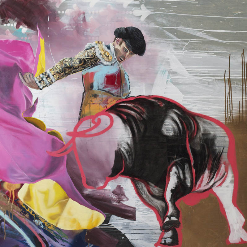 Surfer, Skater, Contemporary Painter via Artsy Karen Kedmey for Artsy on the balancing abstract and figurative work, the creative process, and the back story of Kille's Matador series. as featured on Artsy