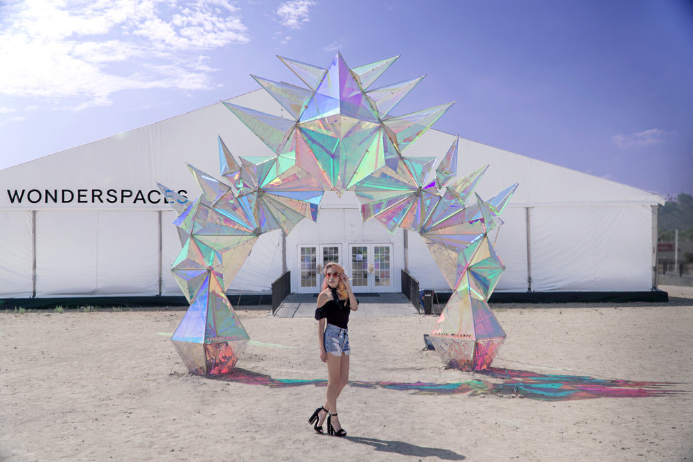 Even before you enter the space you're greeted with an amazing art installation!