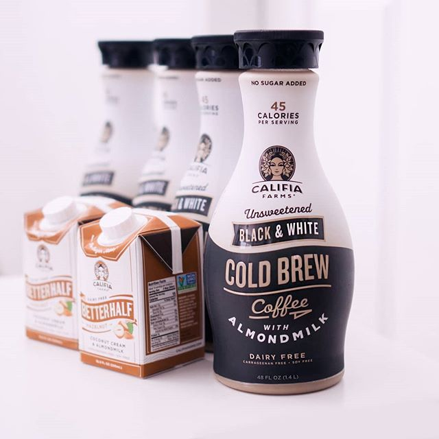 Not sponsored, but I have so much @CalifiaFarms stocked up in the fridge you would think we were 😂 But seriously love these! They keep my bloat down, plus low carbing can make it difficult to find sugar free coffee that actually tastes good. I use 1cup of the unsweetened cold brew plus a splash of sugar free hazelnut creamer. For an extra bit of oomph, 2 pumps of sugar free chocolate syrup (@torani) and 1tsp of dissolved erythritol. I've only been able to find this unsweetened cold brew at @wholefoods (so far), so San Diego peeps, if you see this elsewhere help a low carbing girl out! 😁💕 #CalifiaFarms #lowcarblife