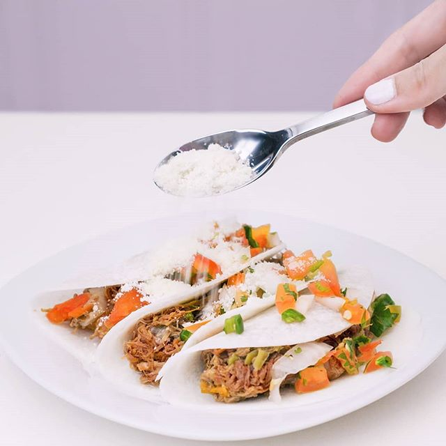 Jicama beef tacos are currently our favorite dish to make at home 🌮 And this dish is never complete without some delicious @realcalimilk cotija cheese! 🧀🤤 Peep the link in bio to try more dairy products with the Real California Milk seal home #sponsored #tasteslikesummer #cadairy