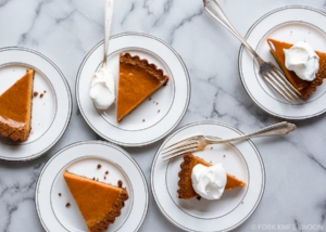 After dinner... - Click here for a silky pumpkin pie with a gingersnap crust and tuck in.