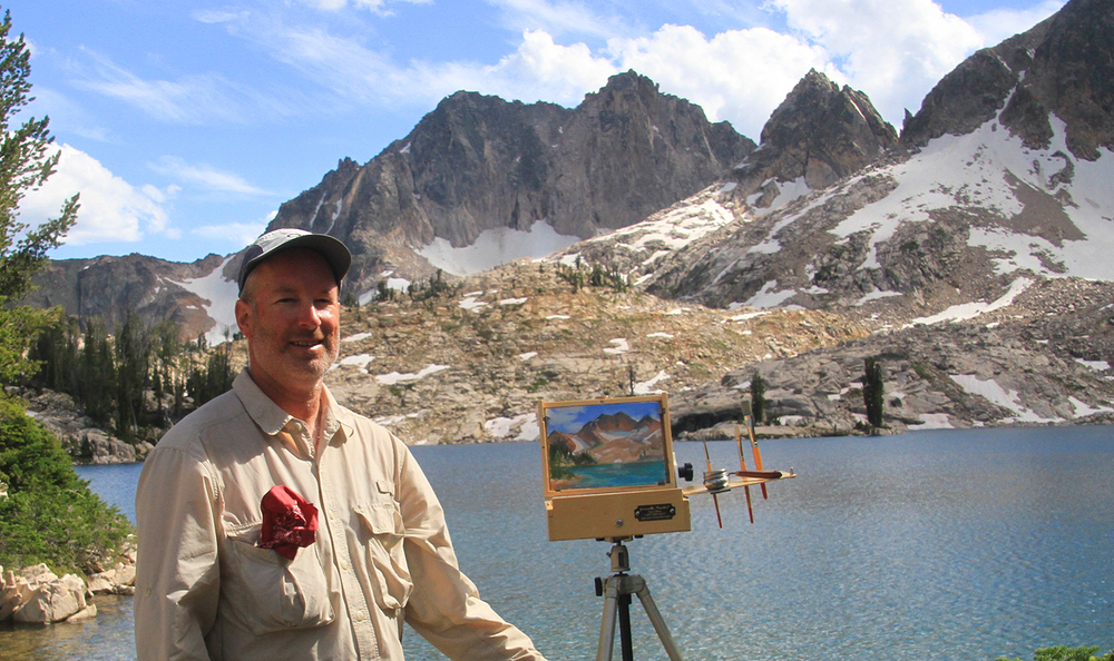 Plein Air painting deep in the Sawtooth Wilderness of Idaho
