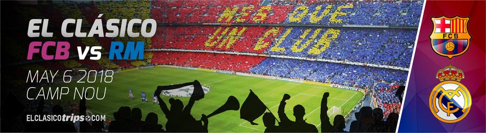 Buy tickets to El Clasico May 2018 in Barcelona Camp Nou