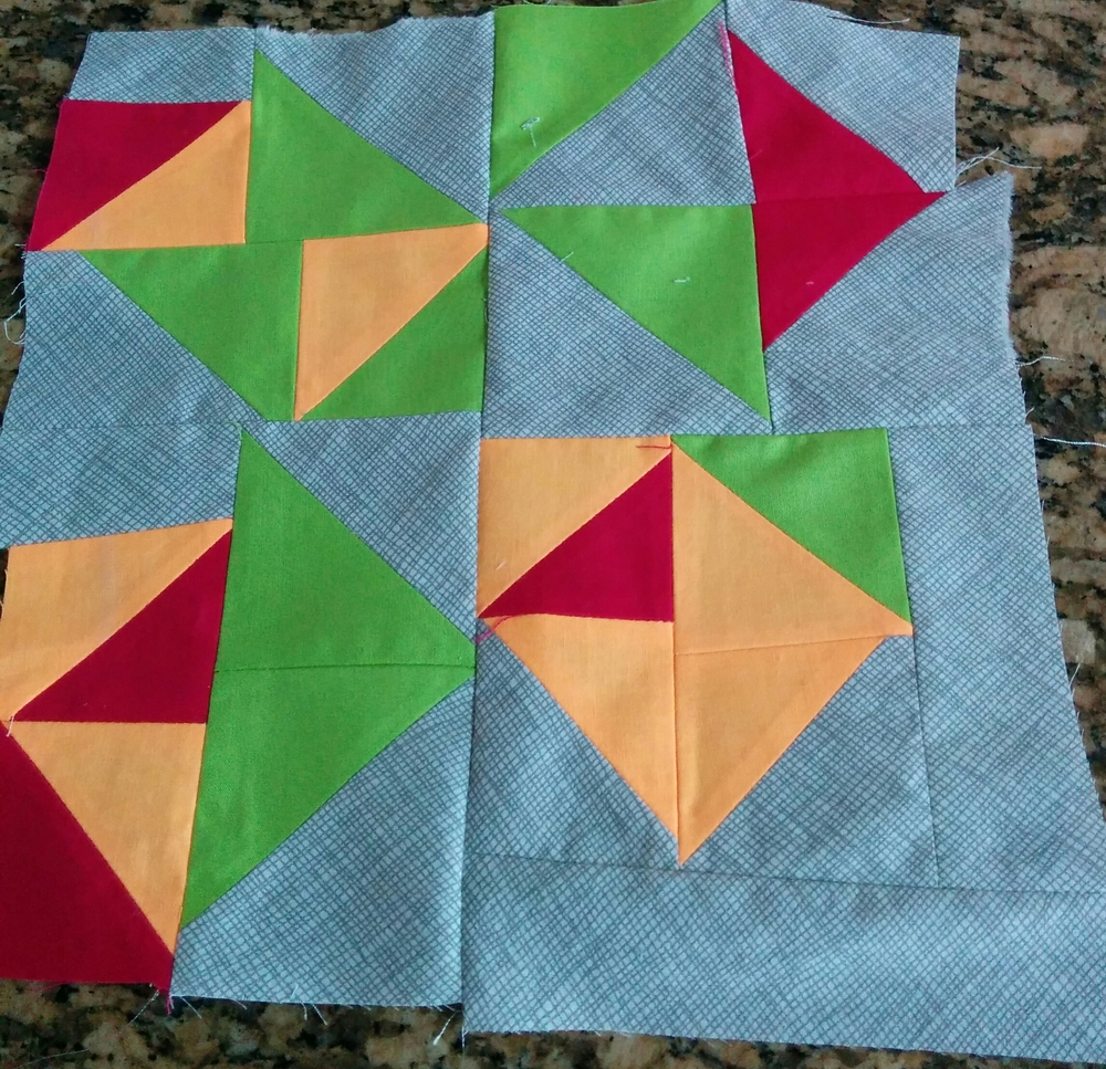 Lily  Oak Designs: Improv quilt square