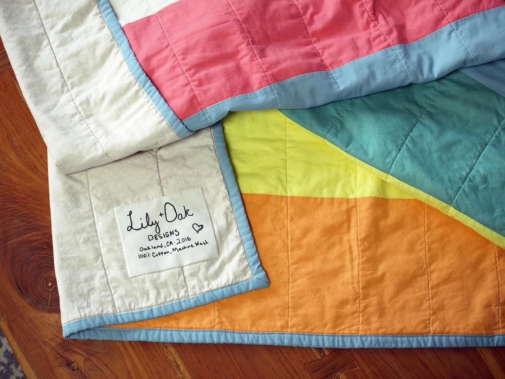 Final appliqued quilt label