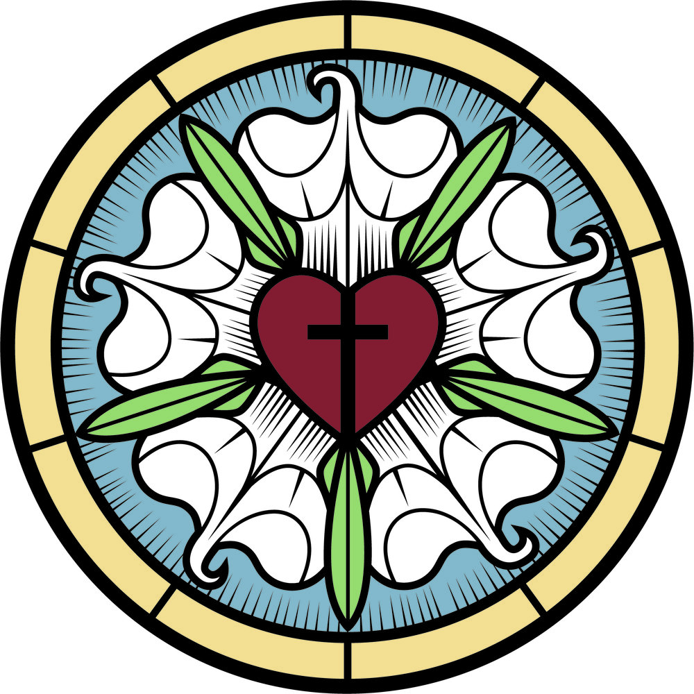 One of the most popular symbols of Lutheranism and the Reformation, the Luther Rose or Luther Seal shows the cross and redemption of Jesus at the center of the Christian's life.