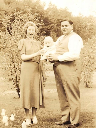 My grandparents, Mildred & Matthew Daneker, with my dad, Robert Daneker Sr.