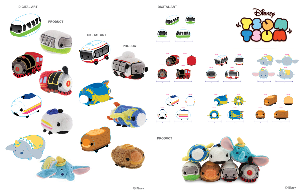 TSUM TSUM PLUSH VEHICLE FAMILY