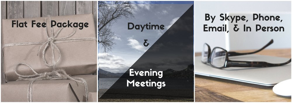 Flat fee Separation Agreement. Daytime and evening meetings.