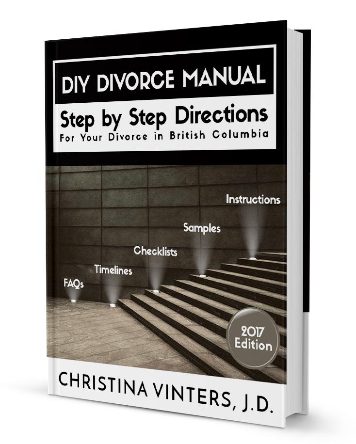 British Columbia divorce kit DIY Divorce Manual at www.modernseparations.com/divorce