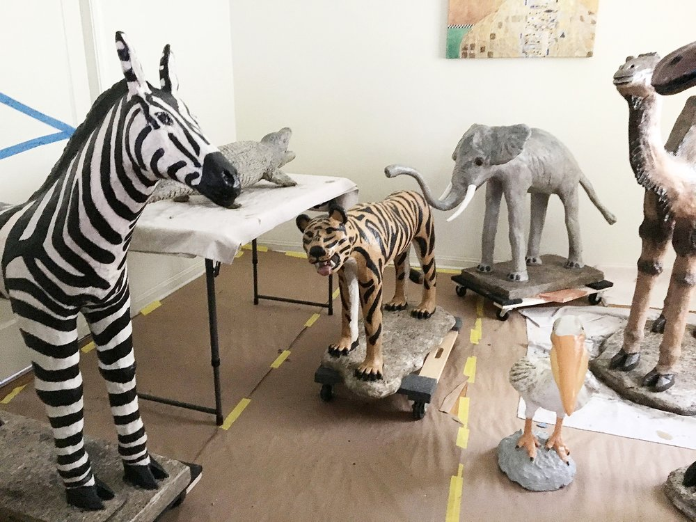 Antique Animal Statue Restoration: Four Seasons at the Surf Club Miami