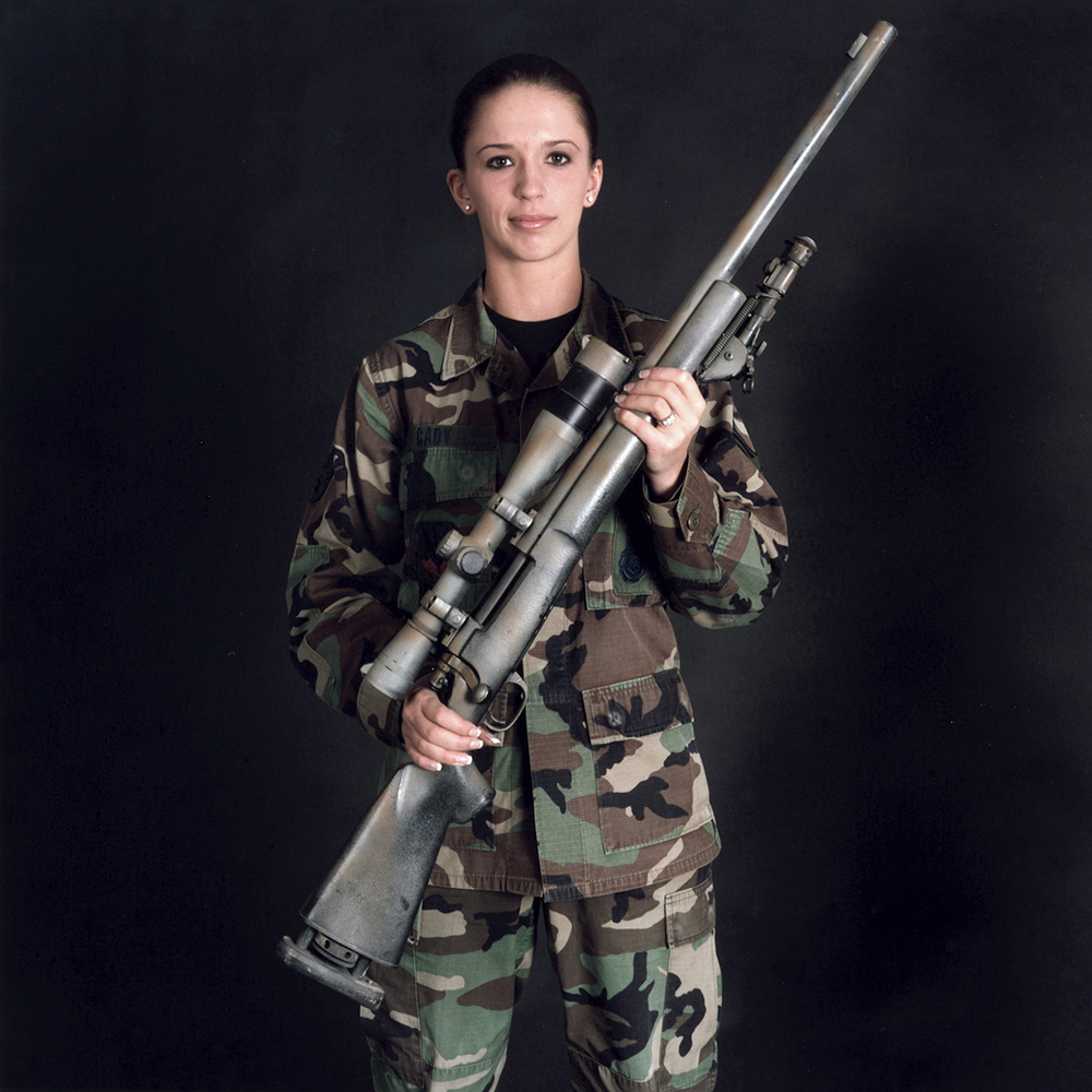 Nancy Floyd, A1C Ashley-Ann Cady with M24 (Remington 700 bolt action rifle), Moody Air Force Base, Valdosta, Georgia