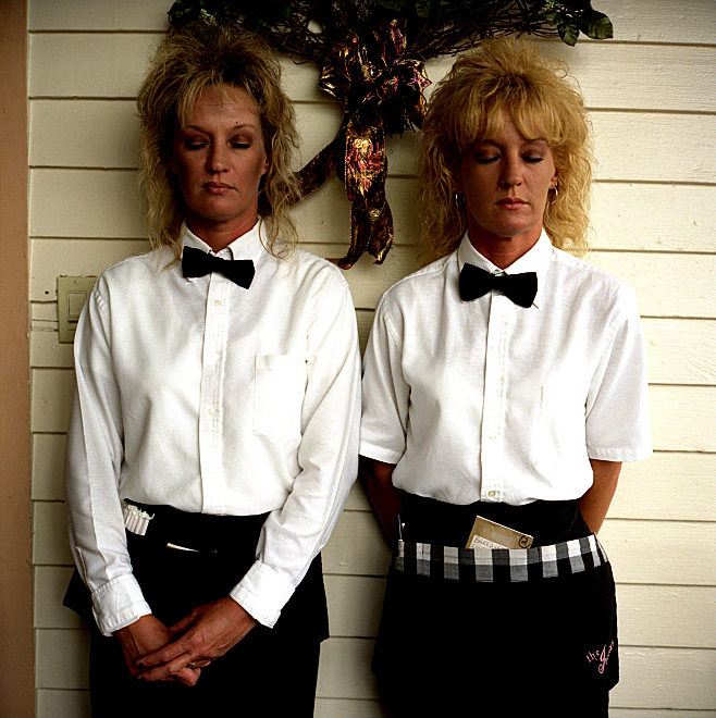Elin O'Hara Slavick, Workers Dreaming, Terry LeBlanc and Sherry Puckett, Servers, The Iberian Restaurant, New Iberia, LA, 2001