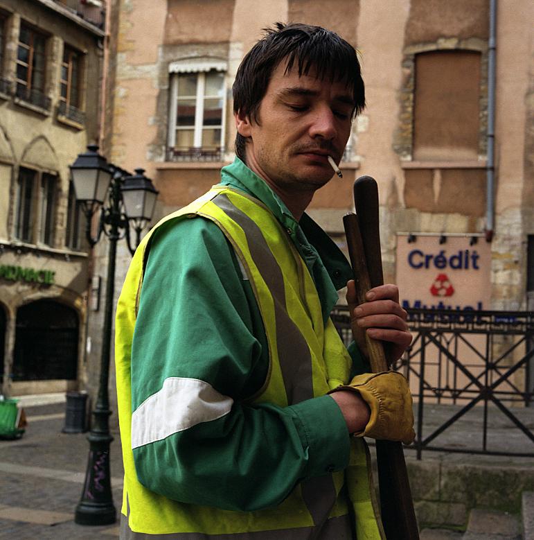 Elin O'Hara Slavick, Workers Dreaming, Streetsweeper, Lyon, France, 2002