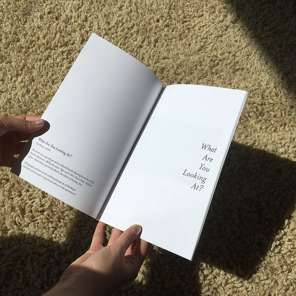 First edition of perfect-bound artist book