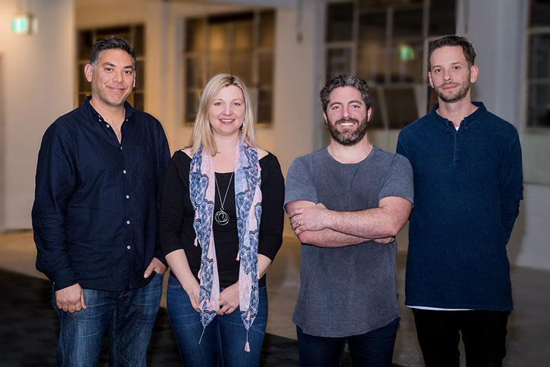Paul Naphtali with AmazingCo co-founders Silvia Hope, Jeremy Cox and Nick Brozovic.