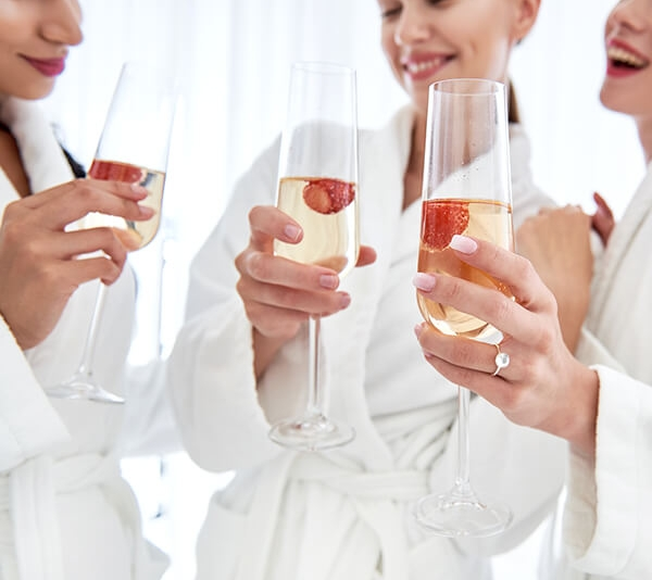 Hens Lush Pamper Party - Luxurious and relaxing, but still fun and cheeky.Our Hens Pamper Party is the perfect option if you want to get spoiled and just relax. We'll get you ready for a night out on the town, or a girly night in!The pamper experience is fully mobile, so we'll take care of everything and come to your chosen location for 2.5 hours of absolute bliss.You just have to sit back, relax, drink some bubbles and let us spoil you!