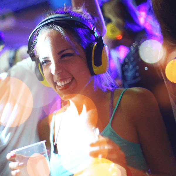 Hens Silent Disco Party - Want to go dancing but without all the club noice?With our Silent Disco Hens Party, you'll all get to listen to the music that makes you tick, and can still enjoy a quiet conversation in between the moves, so everybody wins!Our amazing host will come to you, bring the lights, lasers and headphones and run the show. For 4 hours you'll get to immerse yourself in the dance music of your choice, loose your inhibitions and watch your friends do the same.All in complete silence to the outside world!