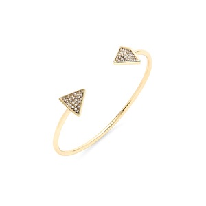 Follow Your Arrow Cuff in Gold by SLATE