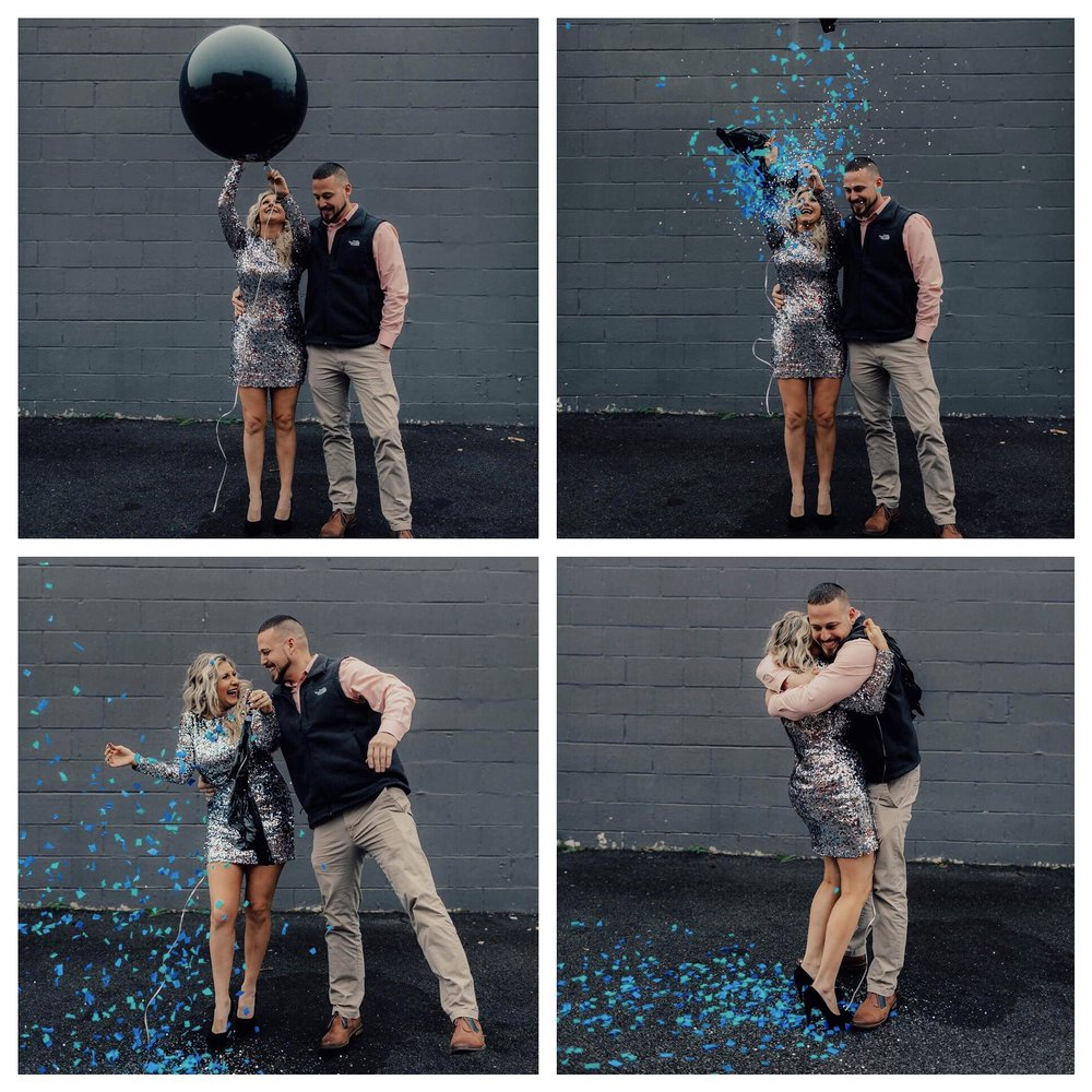 Gender Reveal Day :) Valentine's Day 2017  Dress: Rent the Runway  Hair: Dry House Nashville  MUA: Dani Carpenter  Reveal Balloon: Made it myself, please ask if you would like instructions.    PC: Jennifer Cody Weddings