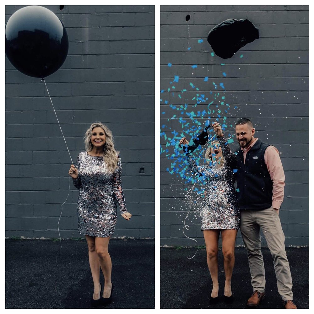 I made a pink and a blue filled balloon, and had the man who did our ultrasound hand us which balloon we needed to pop.  NO ONE knew until the minute we popped it.  It was the most fun and exciting day ever.   I have secretly always wanted to have a baby BOY.