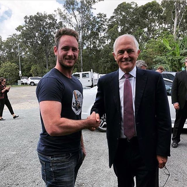 Ian WATSON'S driving school had a special guest on Tuesday #pm #malcomturnbull at Murrumba Downs HQ.