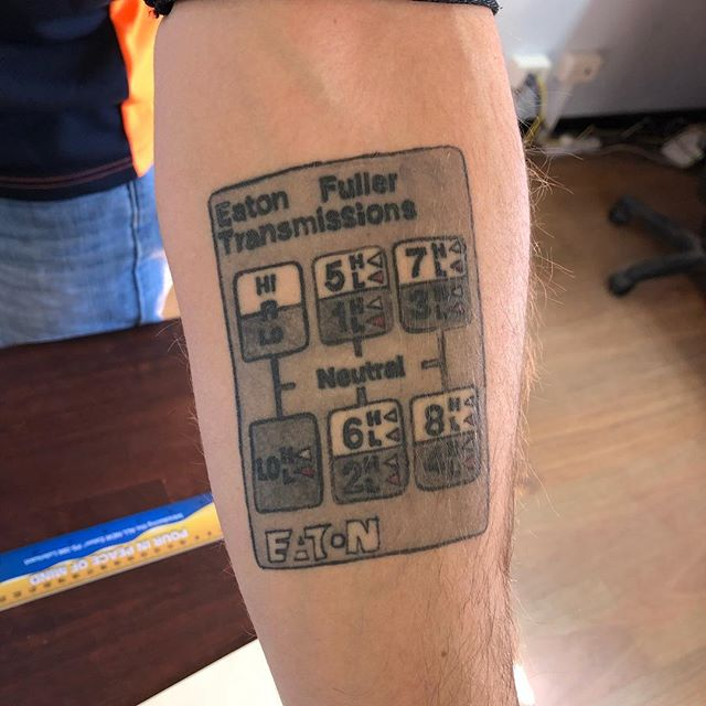 Wow! #roadranger #tattoo at IAN WATSON'S Truck Driving School