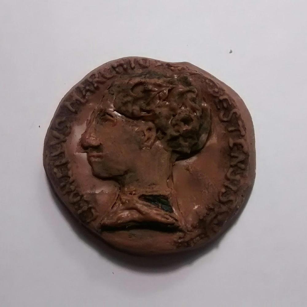 Chocolate truffle Renaissance portrait medal