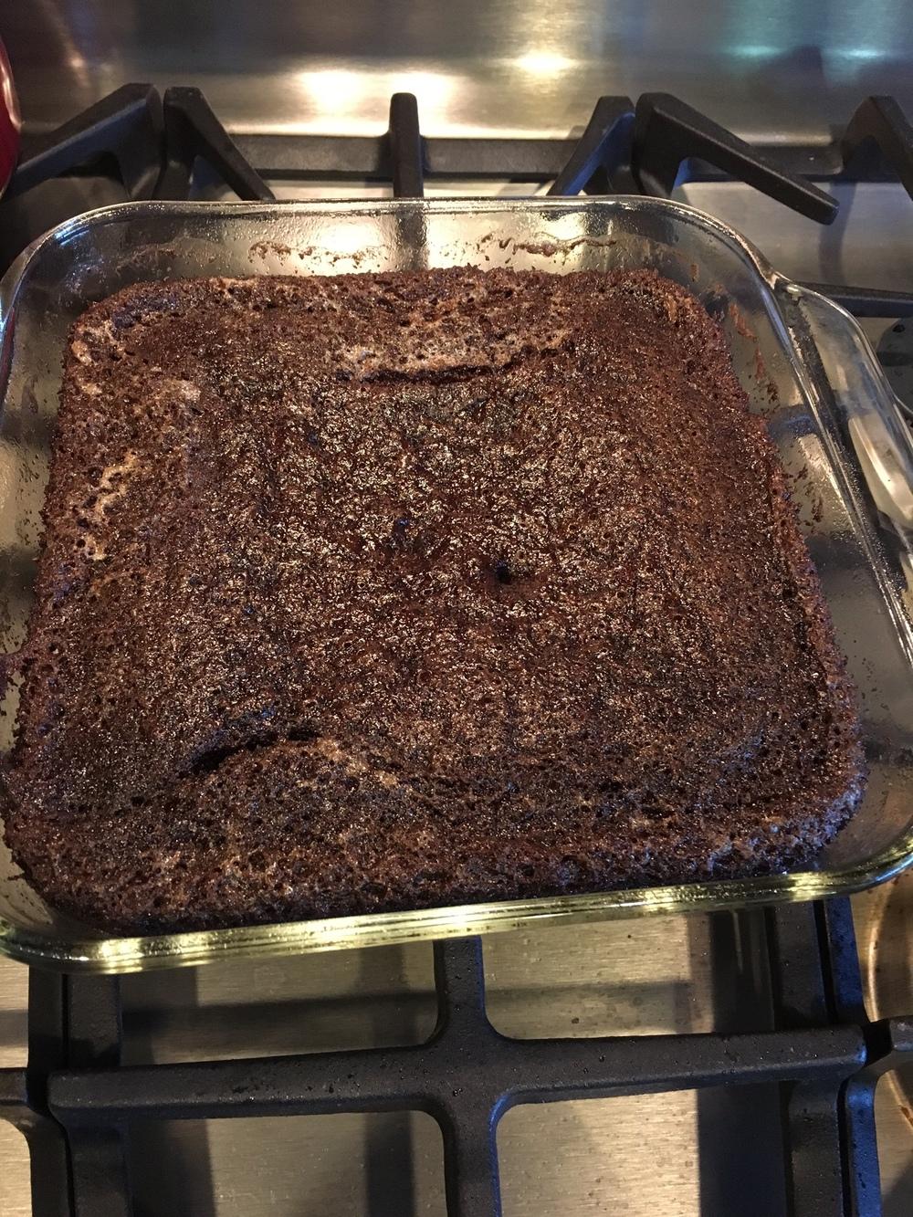 Chocolate wacky cake - Dairy-free, egg-free, soy-free, nut-free, peanut-free