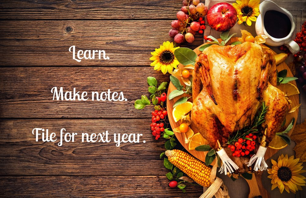 Don't forget to make notes so you're even better prepared for next Thanksgiving. (Photo by Thinkstock)