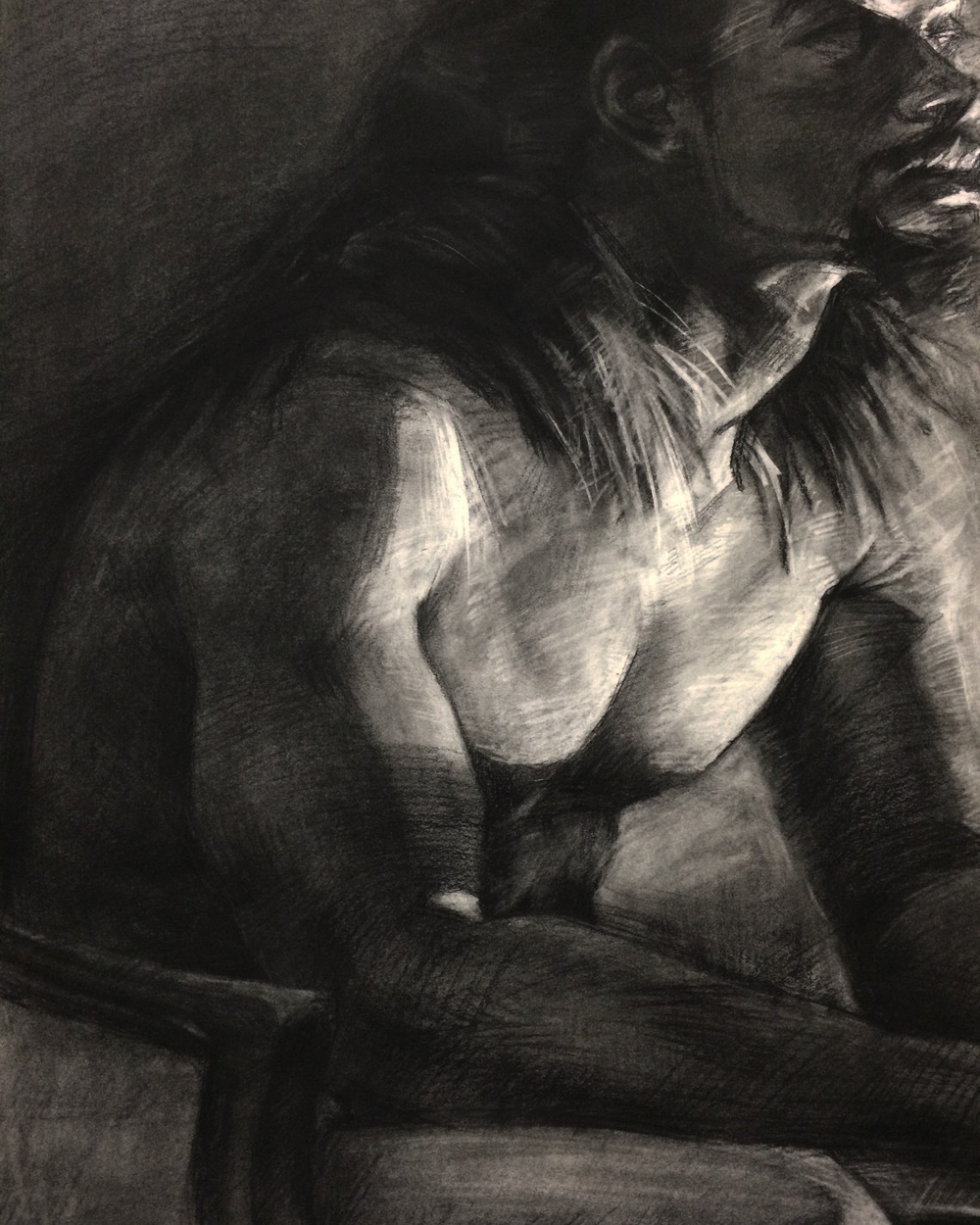 Portrait / 18x24 / Charcoal on Paper / 2015