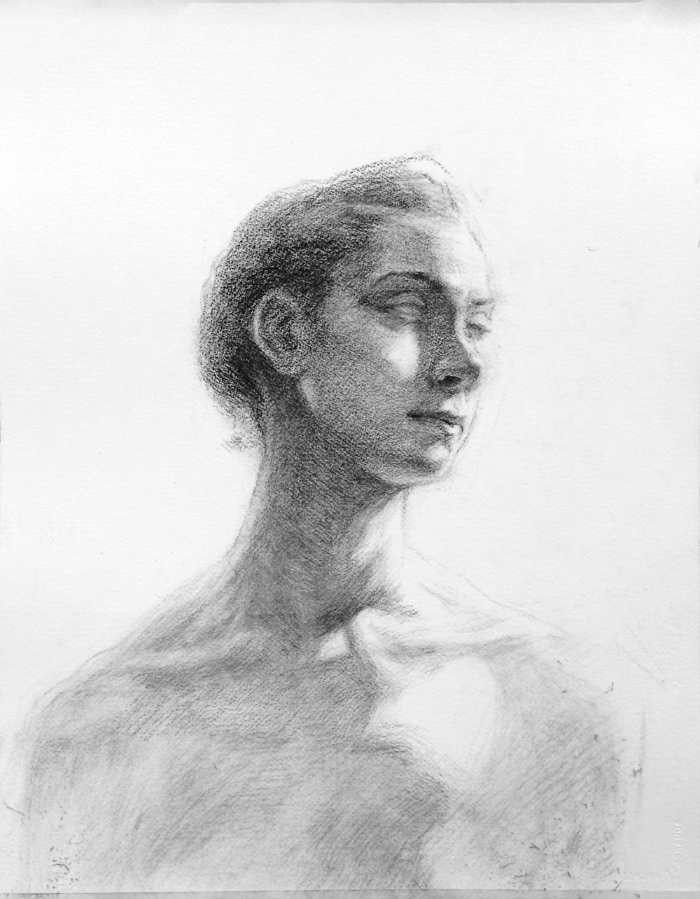 Portrait / 16x20 / Charcoal on Paper / 2015