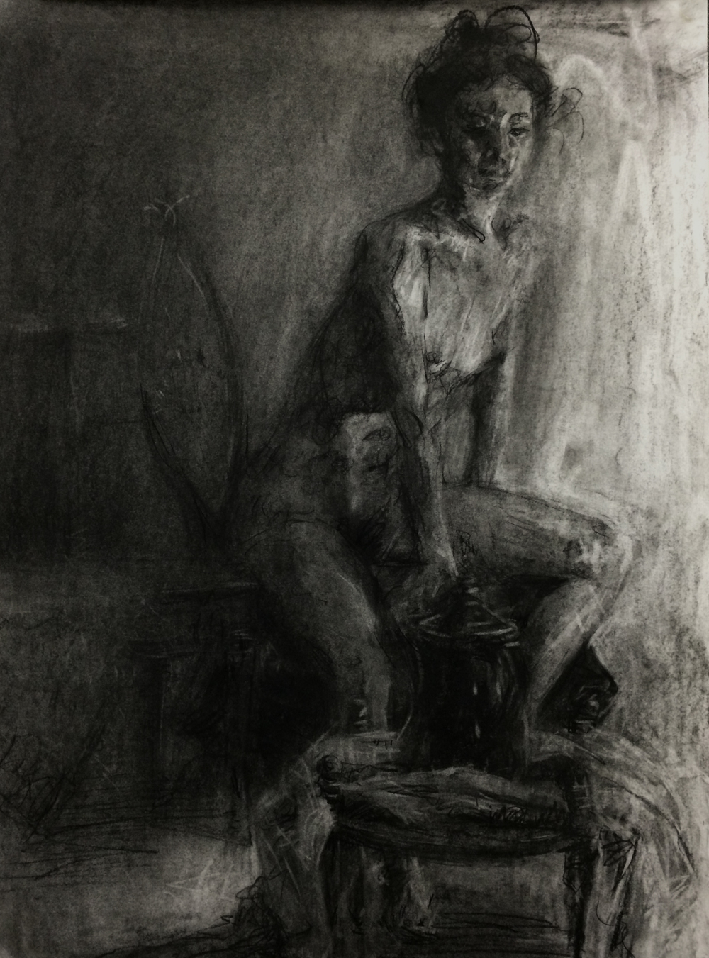 Figure Drawing / 18x24 / Charcoal on Paper / 2015