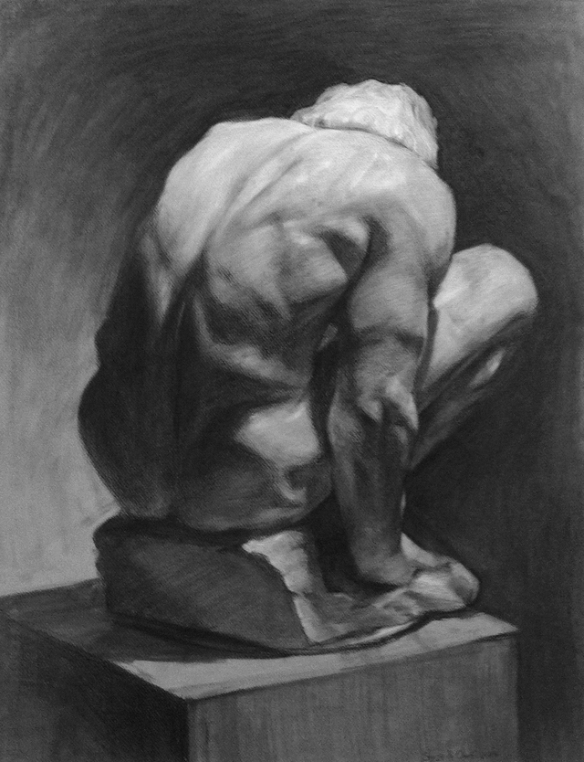 Cast Drawing / Charcoal on Paper / 18x24 / 2014