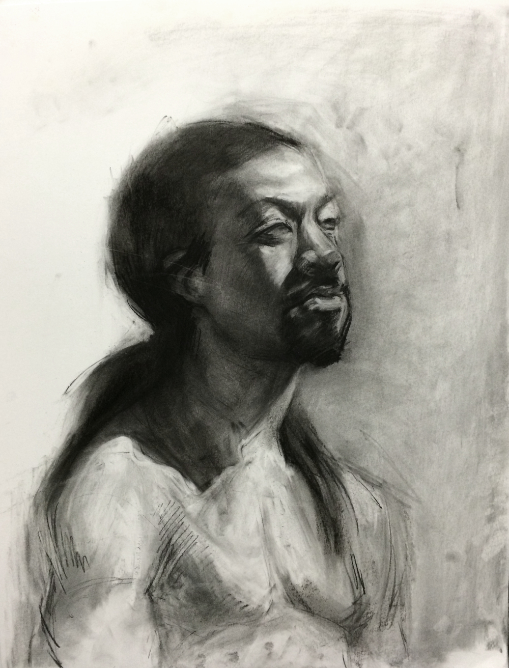 Portrait / 19x24 / Charcoal on Paper / 2015