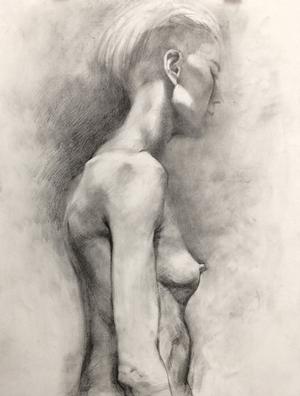Woman Figure : 18x24 : Charcoal : 2015.jpg