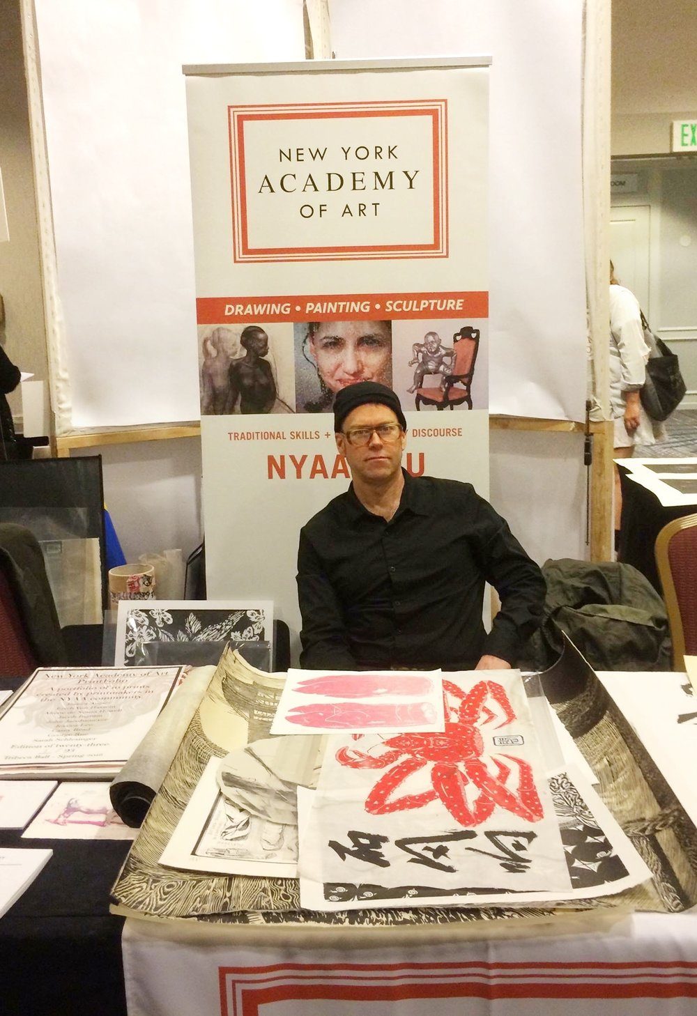 John Jacobsmeyer, the Chair of Printmaking, represents New York Academy of Art in SGCI 2016