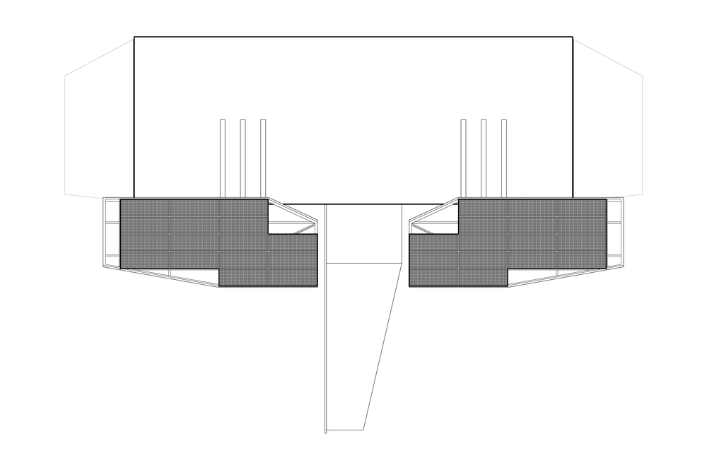 ROOF PLAN   view of solar panels