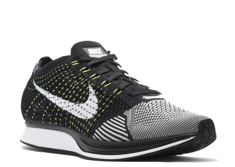 size 40 34d63 28dd1 Nike Flyknit Racer. Flyknit Racer Black White Volt.jpg