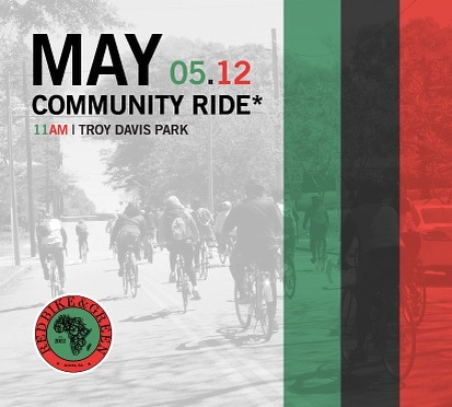 Pull up Sat May 12, 2018 for our monthly community ride. •••••••••••••••••••••••••••••••••••••••••••• #rbgatl #ridefly #communityride #blackfolksonbikes #redbikeandgreen