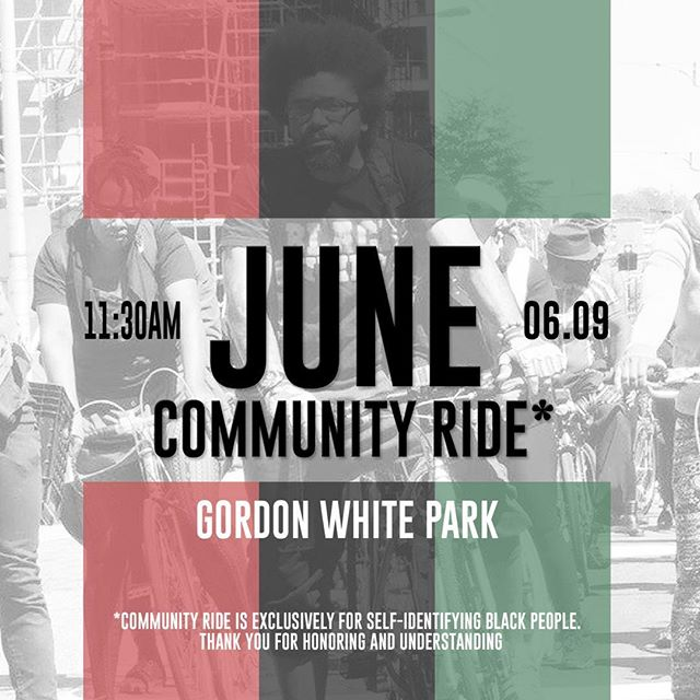 We miss you. Come roll w us.  Linking at the WestEnd Farmers Market at 11:30. We roll at noon (promptly). Bring water, friend , a lil cash, and some good vibes. Oh and wear sunblock (black folks get sun burn too). •••••••••••••••••••••••••••••••••••••••••••••••••• Saturday June 9th, 2018