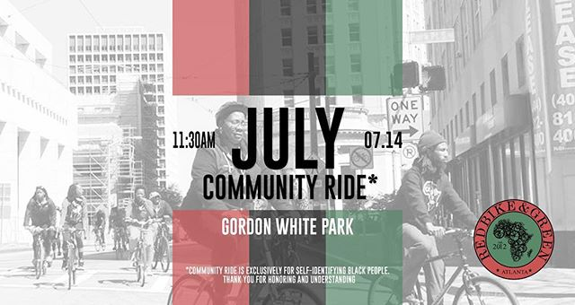 We know, we know..... we don't see each other enuff. It's not our fault, but we will make it up to you w a dope ass community ride this Saturday, July 14, 2018. We admit it we miss you. ••••••••••••••••••••••••••••••••••••••••••••••••••••••Come roll w us.  Linking at the WestEnd Farmers Market (Gordon white park)  at 11:30. We roll at noon (promptly). Bring water, friend , a lil cash, and some good vibes. Oh and wear sunblock (black folks get sun burn too). •••••••••••••••••••••••••••••••••••••••••••••••••• Saturday July 14, 2018