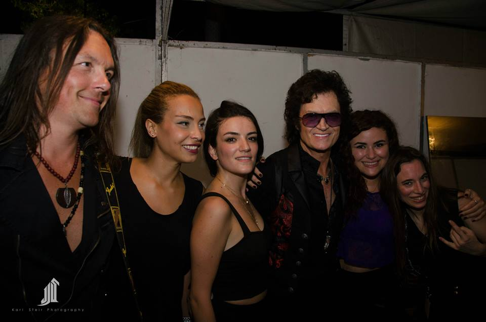 IKLIL backstage with Glenn Hughes at Jim Beam Rocks Festival, July 2015