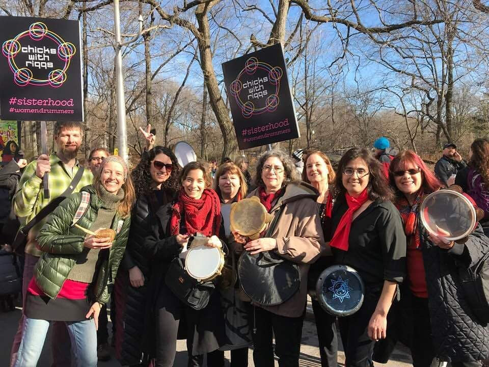 Chicks with Riqqs at the Women's March NYC 2018!  holdin it down!