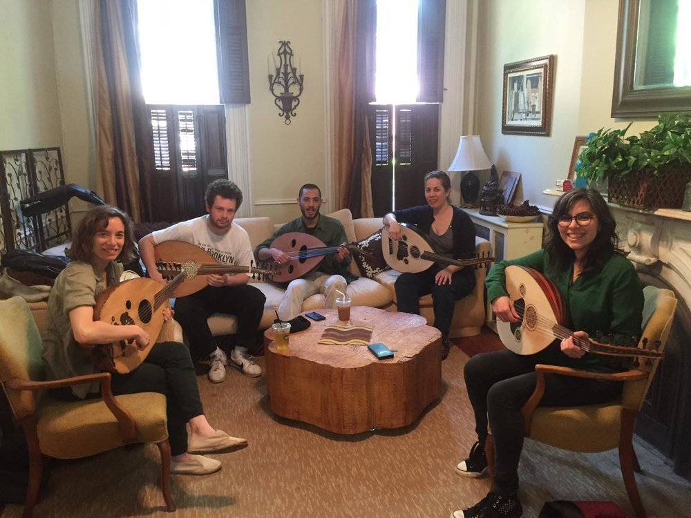 oud group class - TBAStudents learn basic technique, ornamentation, maqamaat or Arabic scales, and popular classical/folk Arabic songs and muwashahat upon the oud or Arabic lute.