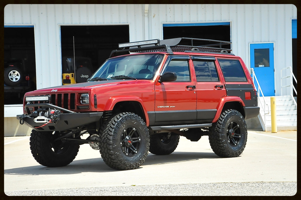One of our Favorite Chili Pepper Red XJ Builds...Stage 4- With MANY additional Upgrades....Click Here For More Photos and Video