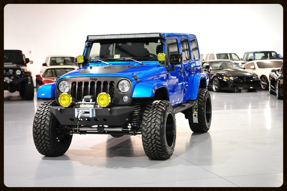 2014 Unlimited,,,,Rare Hydro Blue....All New Rubicon Express...Fox Shocks...Color Match Hard Top...Nitto Trails...20x12 Wheels and MUCH MORE