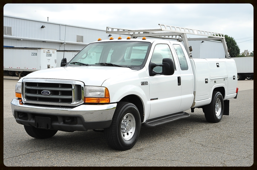 Amazing Contractors Truck....7.3 Diesel with ONLY 42K Original Miles...Literally like new with an amazing rear set up with many lock boxes...Work Ready