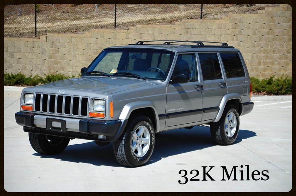 jeep cherokee xj sport for sale - low mileage original cherokee xj
